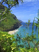 view of napali coast